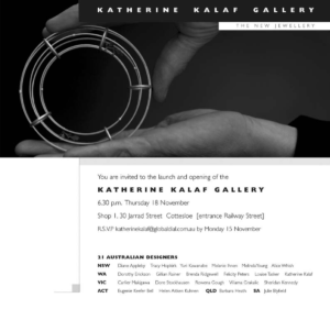 Invitation to Launch Katherine Kalaf Gallery