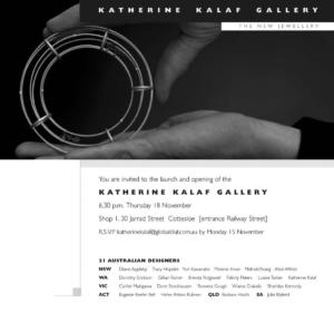 Invitation to Launch Katherine Kalaf Gallery