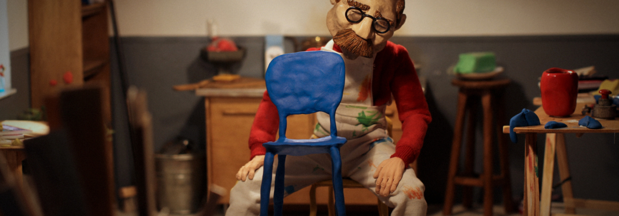 Real to Reel; Craft Film Festival. Still from stop animation 'Clay 2056', Director: Niels Hoebers