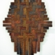 Fiona Gavino, 'Rust & Other Stories', Herringbone Weave (Gold), 2020 mild steel, board, acrylic paint