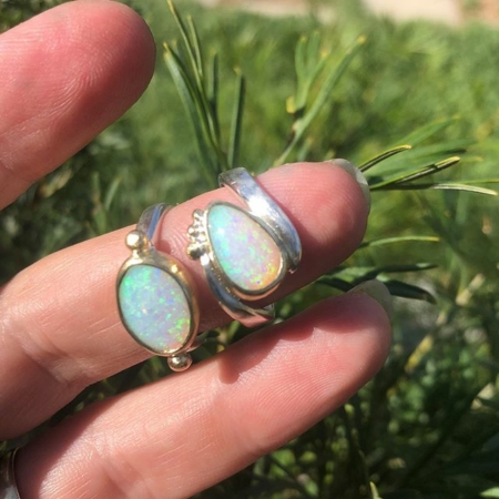 Claire Townsend, opal rings