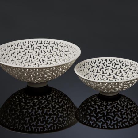 Sandra Black, porcelain etched bowlss