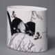 Sandra Black, cast porcelain vase with decal