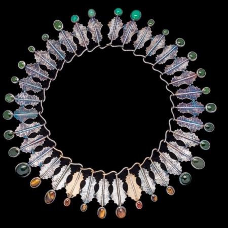 Bethamy Linton, Dryandra Series #2, silver, gold and semi precious stones, 2014