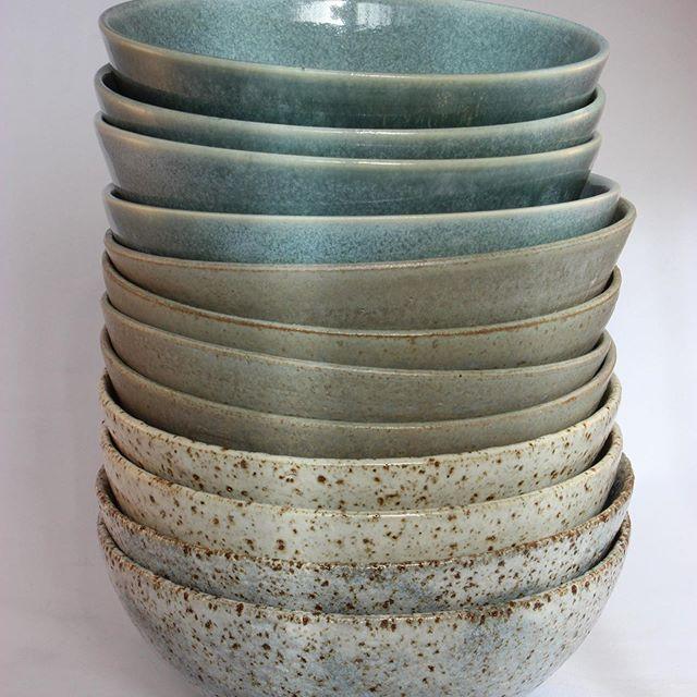 Kim Gillespie, Saffron Moon Ceramics, Stack of Cereal Bowls