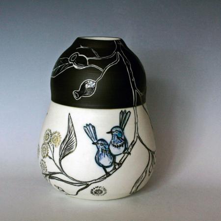 Danica Wichtermann, Our Bush Wrens on Marri, ceramics