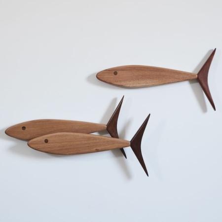 Derek Schapper Design wall timer works, Three Fish
