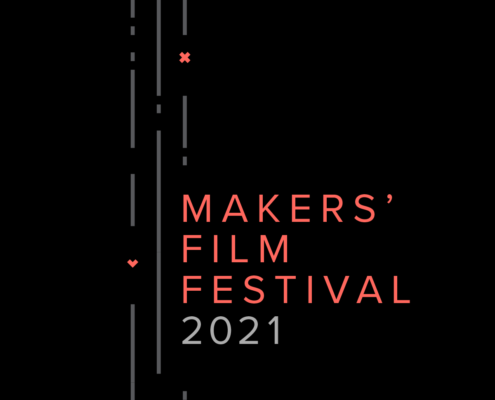 Makers Film Festival in red text on a black background